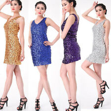 Women Modern dancewear dress Party Mini Dress Lady Latin salsa Dance Costumes
