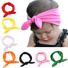 New Newborn Headbands Stretch Rabbit Bow Ear Turban Knot Hair Band Sublime 2016