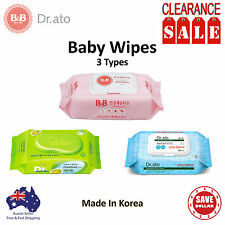 B&B 6x 70pk Baby Wipes Infant ECO Natural Sensitive Nappy Wet Tissue  KOREA MADE