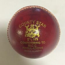 GM County Star 4 Piece Red Cricket Leather Ball 1/2/3/6/12 + AU Stock +Free Ship