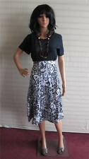 New Simply Be Being Casual 3 piece set Skirt Top Necklace Size 12 UK Black