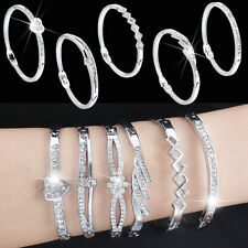 New Style Jewelry Crystal Rhinestone Love Bracelet Bangle Cuff Charm Women Gift