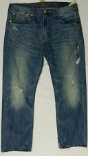 Mens American Eagle Relaxed Straight Jean 36x30 36x32 38x30 38x32 Med Destroy