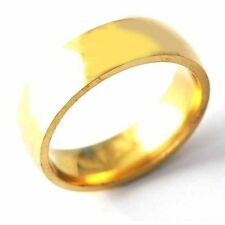 Fashion jewelry Yellow Gold Filled Mens  Unisex Band Ring Size 7,8,9,10,11