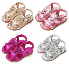 New Fashion Kids Girls Flower Summer Sandals Childrens Girls Velcro Beach Shoes
