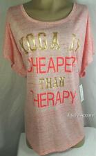 Style & Co Womens Plus Size Shirt Top Coral Yoga Blouse Size 3X New