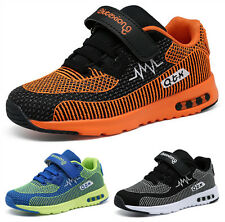 Childrens Girls Boys Casual Shoes Kids Non-slip Trainers Sneakers Shoes Velcro