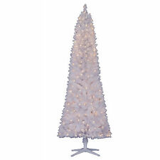 Pre-Lit Christmas Tree & Stand 7 Ft Tall Holiday Decor Clear or Color Lights NEW