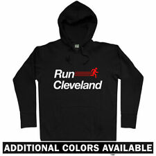 Run Cleveland V2 Hoodie - CLE Ohio OH Running Runner Fitness Athlete - Men S-3XL