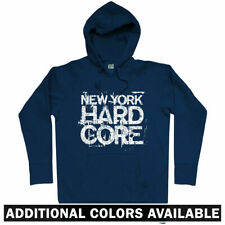New York Hardcore Hoodie - NYC City Punk CBGB Rock Heavy Metal Music - Men S-3XL