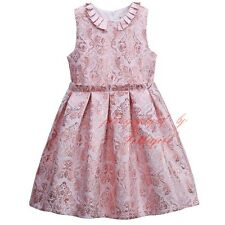 Fashion Vintage Girls Flowers Tulle Dress Toddlers Ruched Slim Princess Dresses