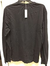 james perse black crewneck tee shirt mlj3515 long sleeve 100% Cotton