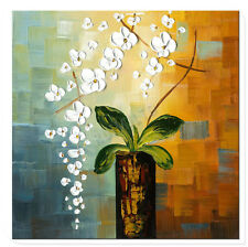 Beauty of Life 100% Hand-painted Flower Artwork Abstract Floral Oil Painting