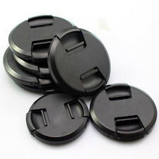 49 52 55 58 62 67 72 77 82mm Center Pinch Lens Cap Cover + Cord For Nikon Camera