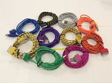 10FT 3M Cable Colorful Braided Nylon USB Charging Cord For Iphone 4S 4 3GS 3G