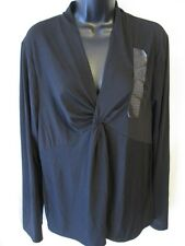 ECI New York Casual Reg Size 2XL Red or Black Long Sleeve Pull Over Blouse NEW