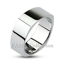 Top Quality FAMA 316L Stainless Steel Mirror Polished Square Band Ring Size 5-14