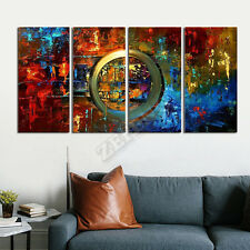 100% Hand-painted Abstract 4 PCs Oil Paintings Modern Canvas Art