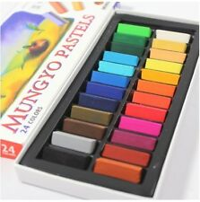 MUNGYO Soft Pastels 24 32 48 64 Colors Set Half Length Square Chalk Vivid Crayon