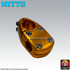 Nitto Japan MX-7A 1-1/8 Retro BMX Stem - Black, Blue, Red, Gold