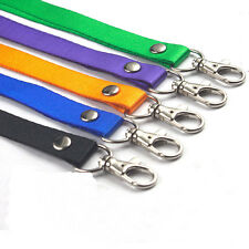 Neck Strap Lanyard Safety Breakaway For ID Name Badge Key Chains Metal Clip Lot