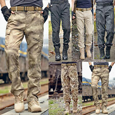 NEW MENS TACTICAL OVERALLS WORK PANTS MILITARY CASUAL CARGO ARMY COMBAT TROUSERS