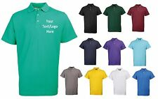 NEW RTY WORKWEAR PERSONALISED CUSTOM PRINTED COMPANY POLO SHIRTS SIZES 3XL-5XL