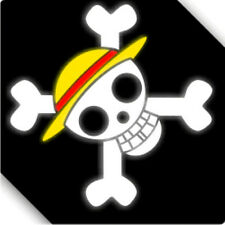 Custom Size and Color 3M Reflective One Piece Luffy Logo Car Sticker Decal