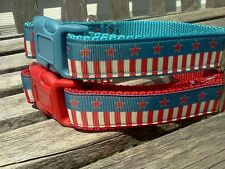 Flag Dog Collar, Stars and Stripes Dog Collar or 4th of July Leash