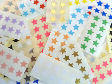 Mini Sticker Pack, 15mm Star Shape Self-Adhesive Paper Labels