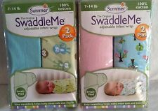 SUMMER TWO PACK ORIGINAL SWADDLE ME ADJUSTABLE INFANT WRAP 7-14 LBS SMALL MEDIUM