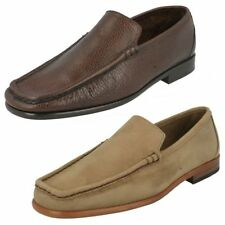 Mens Grensons Leather Slip On Moccasin Shoes G Fitting 4 Colours Milano