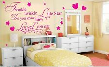 TWINKLE LITTLE STAR nursery childrens rhyme kids babys wall art sticker quote