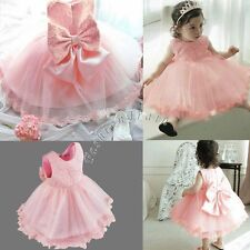 Beads Flower Baby Girls Kids Princess Wedding Bridesmaid Formal Party Gown Dress