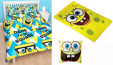 Spongebob Squarepants Happy Double Duvet Kids Quilt Cover Bedding Rug Cushion