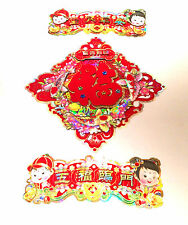 Chinese Good wishes Lucky Wall Hanging Papers - Ideal New Year Decorations