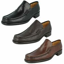 Mens Grensons Brown Grain Leather Slip On Shoes F Fitting Dean