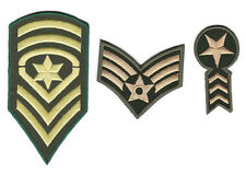 Iron On Patch Navy Army Military Insignia Rank War Biker Retro Appliques Jackets