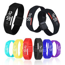High Quality Unisex Rubber LED Digital Wrist Watch Popular Sports Bracelet Gift