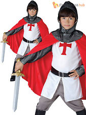 Child Crusader Knight Costume Boys Medieval Fancy Dress Up Book Week St George