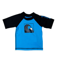 Quiksilver Infant's S/S Main Peak Rashguard Blue/Blue/Black