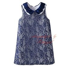 Baby Kid Lace Flower Girl Dress Sleeveless Birthday Party Communion Summer Dress