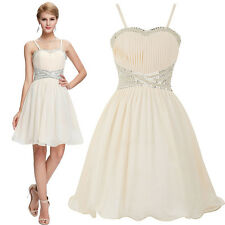 Formal New Mini Spaghetti straps Chiffon Beach Cocktail Evening Prom Party Dress