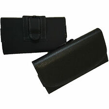 Universal Leather Belt Pouch Magnetic Flip Holster Case Cover for Mobile Phones