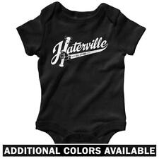 Haterville Logo One Piece - Hip-Hop Hater Hate Baby Infant Creeper Romper NB-24M