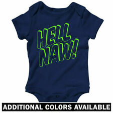 Hell Naw One Piece - Hip-Hop Graffiti Type Art Baby Infant Creeper Romper NB-24M