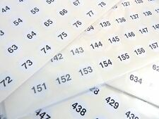 Small White 13mm Round Consecutive, Sequential Number Labels Numbering Stickers