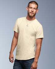 Anvil 420 100% Certified Organic T-Shirt Mens Classic Fit Plain Cotton Tee Tops