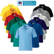 Jerzees Schoolgear 539B Kids Childrens Classic Polo T-shirts Stylish Casual Tops