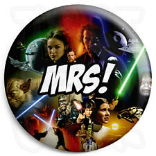 Mrs - 25mm Star Wars Wedding Button Badge with Fridge Magnet Option